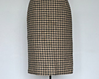 1960s Jantzen Pencil Skirt Houndstooth