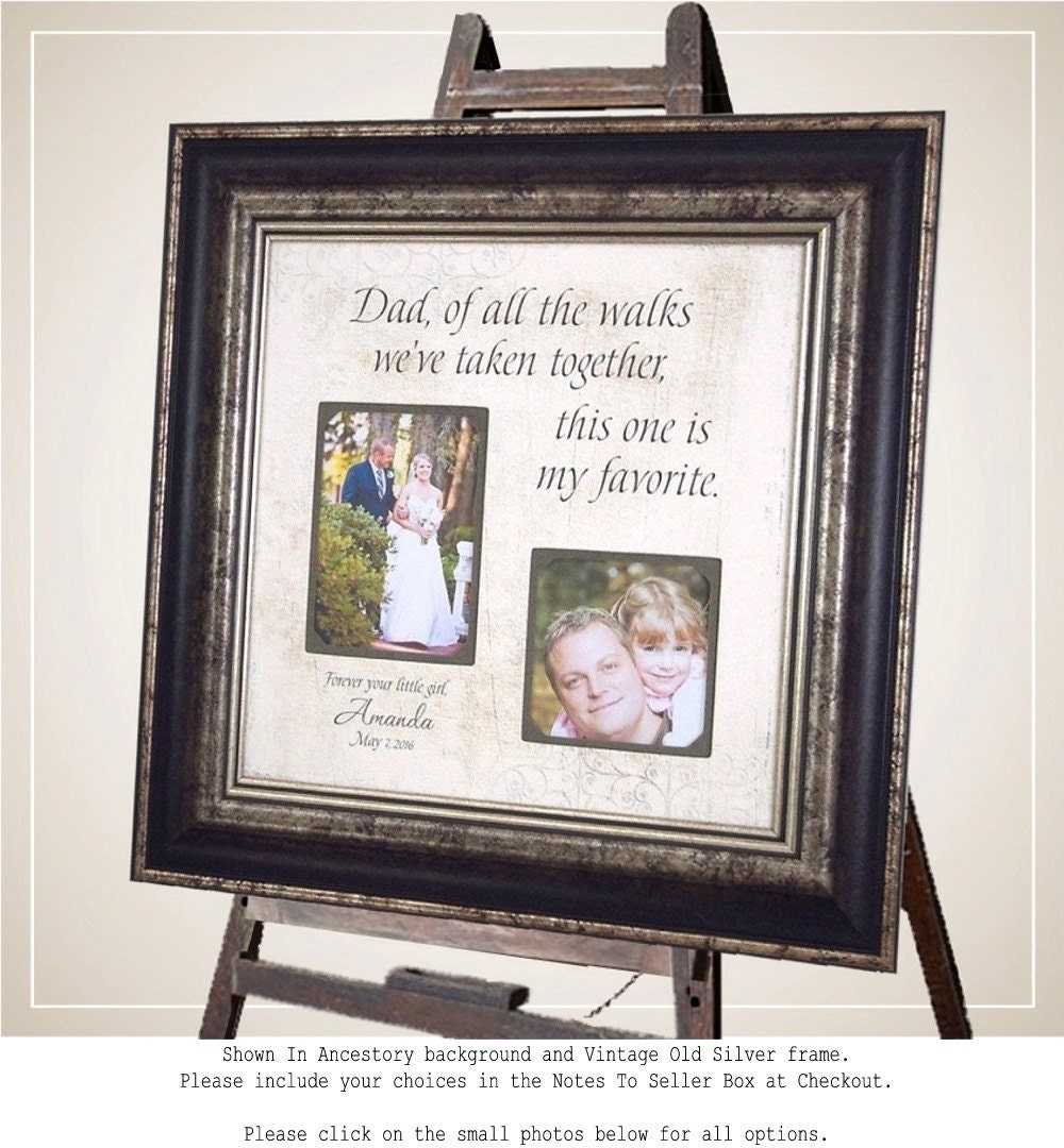 Father Of The Bride Gift Personalized Photo Frame 16x16