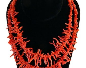 Wonderful Genuine Branch Coral Beaded Necklace
