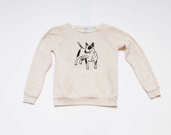 SALE Bull Terrier Sweatshirt, Size S