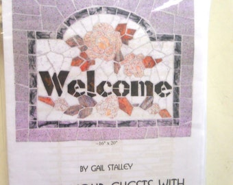 Pattern: Mosaic Welcome Quilt Wall Hanging