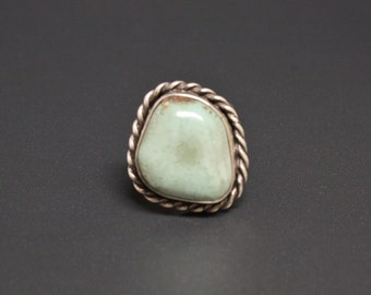 Navajo Tortoise Turquoise Sterling Ring Size 6.5