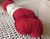 British Wool 100g Skein Baa Ram Ewe Yarn British Breed Wesley Bob Deep Red Crimson Dovestone DK Double Knitting Yarn Crochet Knitting Wool