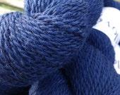 Navy Blue Pure Wool Yarn 100% British Wool Baa Ram Ewe Dovestone DK Endeavour 100g Skein Wensleydale Bluefaced Leicester Masham