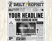 Custom Daily Prophet Front Page Printable PDF | Potter Baby Announcement | Not An Instant Download | Not An Editable PDF
