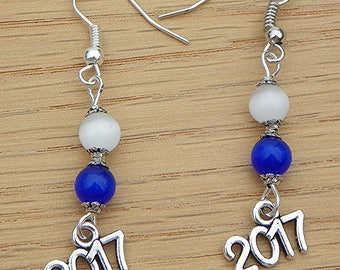 Graduation Earrings graduate earrings school color earrings graduation jewelry graduate jewelry graduation gift college graduate earrings