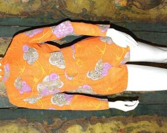 Vintage 60s 3pc Orange Romper - Aloha!