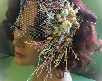 Couture Mermaid Fascinator by Traci Hines (sale item) *ready to ship