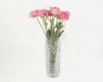 Vintage Drops Op Art Glass Vase Iittala Style