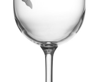 Orca Wine Glass, Etched (Sandblasted), Original Design