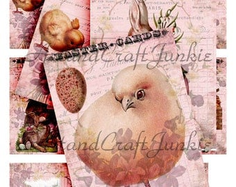 Printable Easter Cards Journaling Cards ATC Collage Sheet