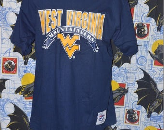 Vintage 1990's WVU Mountaineers The Game Shirt!!!