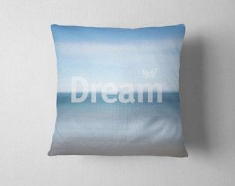 Beach Throw Pillow Cover | Custom pillow cover | blue pillow sham | coastal decor | custom beach pillow sham | inspirational