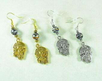 Star Wars Millennium Falcon,  Dangle Earrings Gold or Silver,  Womens Gift  Handmade