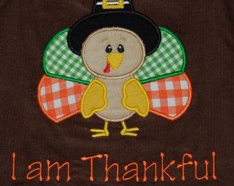 Personalized Reversible Thanksgiving Thankful Turkey/Elf Santas Helper Longalls