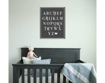 Farmhouse ABC Nursery Printable Wall Art
