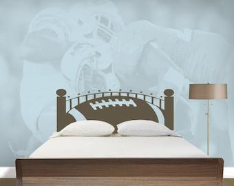 Football Headboard   Vinyl Headboard   Football Wall Decal   Bedroom Decal    Vinyl Wall Decal
