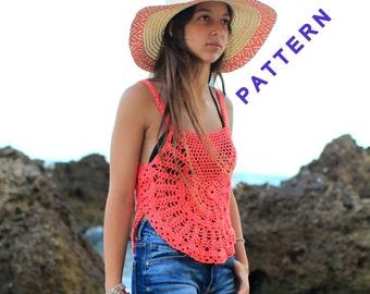 Crochet Tank Top PDF Pattern, Women's Tank Top Tutorial, Summer Clothing Patterns