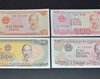 Vietnam 4 Banknotes uncirculated