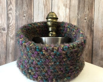 Crochet Cowl, Brown Neck Warmer, Crochet Neckwarmer, Women's Cowl, Circle Scarf, NeckWarmer