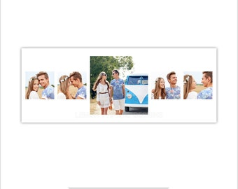 INSTANT DOWNLOAD - Facebook Timeline Cover, Photoshop Template, Modern - FT209