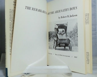 Vintage Hardcover First Edition Book The Remarkable Ride of the Abernathy Boys by Robert B Jackson 1967 DanPickedMinerals