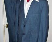Vintage Mens Blue Par-Temp Suit by Sears The Mens Store 44 L Only 29 USD