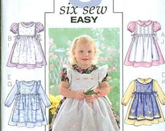 Butterick Pattern B4054 Cute Dress and Pinafore NEW Toddler Multi Fit Sizes 1-4