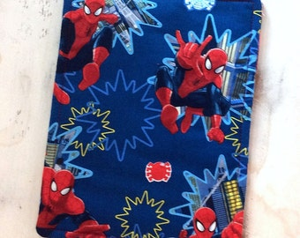 Spiderman Trivet Large Rectangle Reversible Design Red Blue Motif Marvel Comics Hot Pad Stocking Stuffer Super Hero Pollyanna Teacher Gift