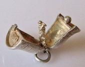 Silver Wedding Bell & Chimney Sweep charm