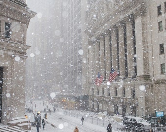 New York Stock Exchange in the Snow - New York in the Winter - FiDi Manhattan - New York City Photography