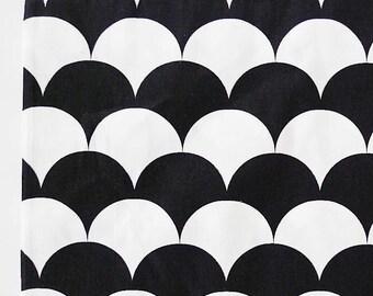 monochrome scallop cotton twill fabric black white fabric decor fabric fabric