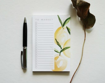 To Market List Notepad, Memo Pad, Grocery List Notepad