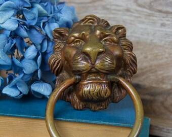 Antique Lion's Head Door Knocker