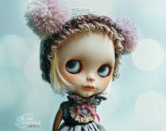 Blythe/Pullip Victorian Hat TWILIGHT DREAM By Odd Princess, Hand Knitted Collection