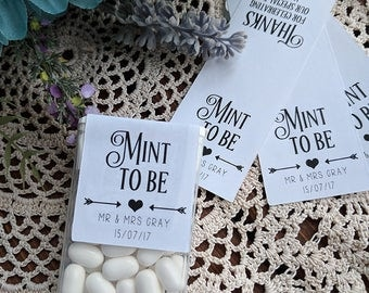 Mint To Be, CUSTOM Labels, Stickers, Mint, Favours, Favors, Wedding, Engagement, Weddings, Breath Mints, Mint to Be Label, Wedding Favours