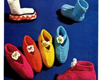 Baby Knitted Booties Patterns, Bootees, Slippers, Baby Socks, Birth-9 Months PDF Pattern, Instant Download