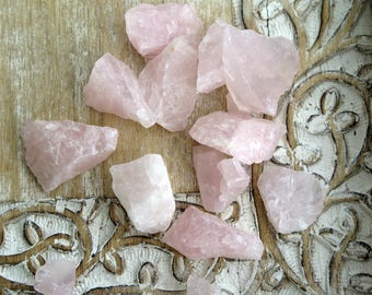 Rose Quartz Raw Untumbled Healing Stones