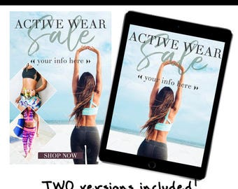 Active Wear Email Template (2 Versions Included)