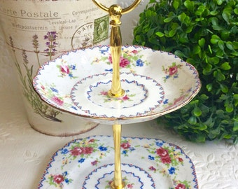 Royal Albert Petit Point 2 tier Tea Stand
