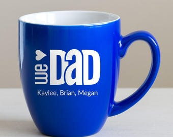 Custom Engraved Father's Day Coffee Mug: Large Personalized Dad Coffee Mug, Personalized Father's Day Gift, Unique Gift for Dad, SHIPS FAST