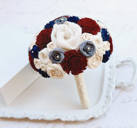 navy blue wedding flowers maroon charcoal and navy blue wedding bouquet 6124