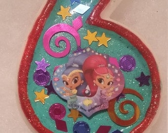 Shimmer and Shine Birthday Number  Candle