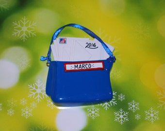 Personalized Mailman Christmas Ornament