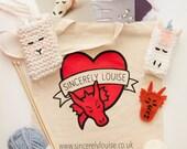 Mythical Winter Goodie Bag! DIY Knitting and Felt Gift Kit, Unicorn, Phone Case, Dragon, Brooch