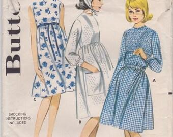 60s Dress & Scarf Pattern Butterick 2986 Size 16