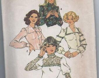 Unusual 70s Blouse Pattern Simplicity 6679 Size 12 Uncut