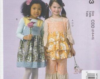 Girls' Top, Jumper & Pants Pattern McCalls 7183 Sizes 2 3 4 5 Uncut