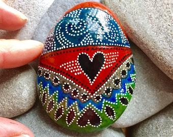 the messenger / painted rocks / painted stones / paperweights / rock art / boho art / hippie art / sea stones / rocks