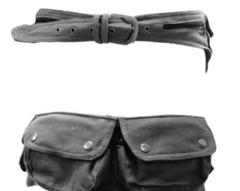 UTILITY BELT, fanny pack, hip bag, Pocket belt, Festival belt, canvas pocket belt, Hip pack, Cnbefop